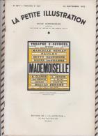 La Petite Illustration N°595 24 Septembre  1932 MADEMOISELLE DEVAL - Theatre