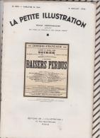 La Petite Illustration N°583 2 Juillet   1932 BAISERS PERDUS - Theatre