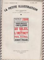 La Petite Illustration N°573  16 Avril  1932 AU SOLEIL DE L'INSTINCT PAUL RAYNAL - Theatre