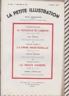 La Petite Illustration N°567  5 Mars  1932 LE VOYAGEUR ET L'AMOUR / MORAND LA CRISE MINISTERIELLE T BERNARD LA RENTE VIA - Theatre
