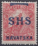 Yugoslavia, Kingdom SHS, Issues For Croatia 1918 Mi#59F, Mint Hinged - Nuovi