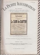 La Petite Illustration N°547  10 Octobre  1931 LE SANG DE DANTON - Theatre