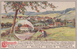 Herrieden, Elbersroth, Gesamtansicht, LITHO, Um 1908 - Ansbach