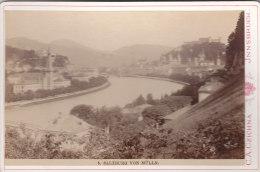 KABINETTFOTO Um 1890, Salzburg Von Mülln Aus - Antiche (ante 1900)