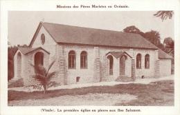 ILES SALOMON MISSIONS DES PERES MARISTES VISALE LA PREMIERE EGLISE EN PIERRE - Solomoneilanden
