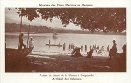 ILES SALOMON MISSIONS DES PERES MARISTES BOUGAINVILLE ARRIVEE DU BATEAU - Salomon