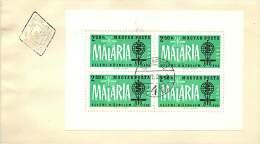 1962  Lutte Contre Le Paludisme  Bloc Feuillet Dentelé  MiNr Block 35A  FDC Non Adressé - FDC