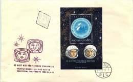 1963   Vols Spatiaux: Vostock 5 Et 6  Bloc-feuillet MiNr Block 36A  Espace, Space - FDC