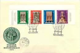 1975  Année Des Monuments Européens  Fontaines MiNr 3060-3A  Bande De 4 - FDC