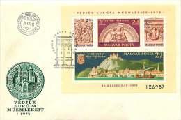 1975  Année Des Monuments Européens  Fontaines  Bloc Feuillet MiNr Block 115A - FDC