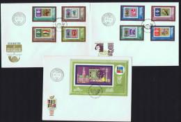 1973  Expositions Philatéliques IBRIA Et Polska73  Timbre Sur Timbre  MiNr 2865-72A Block 97A  Bloc Feuillet - FDC