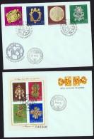 1973  Bijoux Anciens  MiNr 2898-2901, Block 100A  Bloc-feuillet - FDC