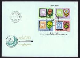 1974  Centenaire Du Timbre Hongrois Minr  Block 105A  Bloc-feuillet - FDC