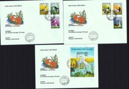 1980  Protection Des Animaux Sauvages D'Europe  Oiseaux  MiNr 3451-6A, Block 146A  Bloc-feuilelt - FDC