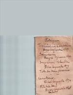 Menu XIX Siècle Retrouvé Avec Documents De La Comtesse De LALANDE Tarnos - Menú