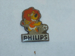 Pin's LION FOOTBALLEUR, PHILIPS - Fútbol