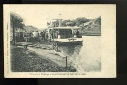 R BTPYS Madagascar, Tamatave Chaloupe S'approvisionnant De Bois Sur Canal, Bateau Nommé : Mahatsara - Madagascar