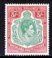 Nyassaland Protectorate 65 A  Dark Red   * - Nyasaland (1907-1953)