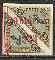 Estland Estonia Estonie Air Mail Flugpost 1923 Michel 44 B A + PRINTING ERROR (*) - Estonia