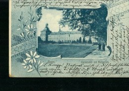 Litho Bonn Universität Mit Hofgarten Blumen-Rahmen 31.5.1905 N. Marburg 2 Stemp. - Bonn