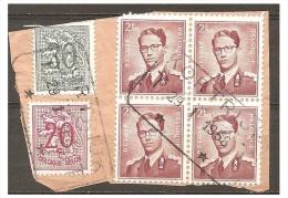 VAF-6130   KOTRIJK       BLOK VAN 4         Spoorwegstempel - 1953-1972 Brillen