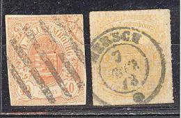 Luxembourg : Yvert N°11 Et 16°; Used; (11 Clair) Voir Scan - 1859-1880 Armoiries