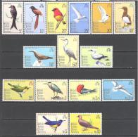Océan Indien : Yvert N°63/77**; MNH; Oiseaux; Birds; Vögel; Oiseaux Divers - Territoire Britannique De L'Océan Indien