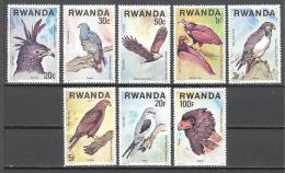 Rwanda: Yvert n�804/11**; MNH; oiseaux; birds; V�gel; igle ptt sarpentaire aigle p�c vautour mone buse milan