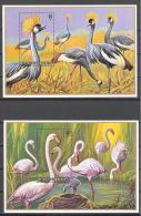 Rwanda: Yvert n�BF 59/60**; MNH; oiseaux; birds; V�gel; flamants; grues couronn�es