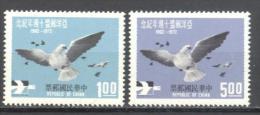 Formose: Yvert N° 819/20**; MLH; Oiseaux; Birds; Vögel; Pigeon - 1945-... République De Chine