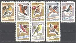 Roumanie: Yvert N° 2211/8**;MNH; Oiseaux; Birds; Vögel; Ois Chant. Gobe Mouche Bec Croise Rousserolle Rouge Queue Rouge - 1948-.... Republics