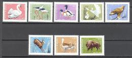 Roumanie: Yvert N°2423/30**;MNH; Oiseaux; Birds; Vögel; Cygne; Echasse; Tadorne; Grande Aigrette; Aigle; Outarde; Barbue - 1948-.... Republics