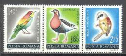 Roumanie: Yvert N°2741/3**;MNH; Oiseaux; Birds; Vögel; Guepier Bernache Mesange - 1948-.... Republics