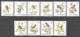 Saint Marin: Yvert N°810/9 ; Oiseaux; Birds; Vöge - San Marino