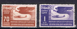 Ecuador 1936 Air Plane Bird Used - Uccelli