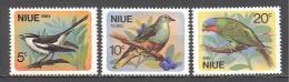 Niue: Yvert N°125/7**; MNH; Oiseaux; Birds; Vögel; Echenilleur Pigeon Lori - Niue