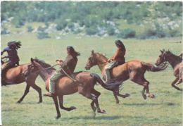 Allemagne: Carte Postale,  Eine Szene Aus Dem Rialto Constantin Farbfilm  Winnetou; Indiens à Cheval; Voir Les 2 Scans - Acteurs