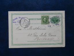 35/842  CP  POUR LA FRANCE  1904 - Postwaardestukken