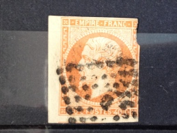 FRANCE YT 16. Napoléon III. Oblitération PARIS Bureau B. 1853. Côte 20.00€ - 1853-1860 Napoleon III
