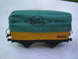 Hornby.Meccano.Wagon Tentes,bâches Saint-Frères. - Wagons