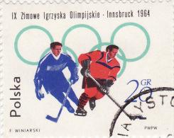1964 Polonia - Olimpiadi Di Innsbruck - Hockey (su Ghiaccio)
