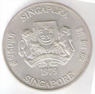 SINGAPORE 10 DOLLARS 1979 AG - Singapore