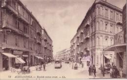 EGYPTE - ALEXANDRIE - RAMLEH STATION STREET - CARTE DATEE DE 1922. - Alexandria