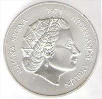 ANTILLE OLANDESI 25 GULDEN 1973 AG - Antille Olandesi