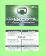 BELIZE - Remote Phonecard/Internet