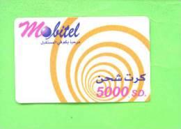 SUDAN - Remote Phonecard/Mobitel 5000SD - Sudan