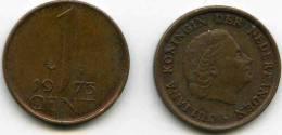 Pays-Bas Netherland 1 Cent 1973 KM 180 - [ 3] 1815-… : Reino De Países Bajos
