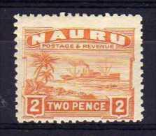 Nauru - 1924 - 2d Definitive (Rough Surfaced Paper) - MH - Nauru