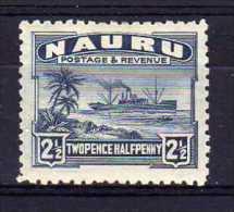 Nauru - 1924 - 2½d Definitive (Rough Surfaced Paper) - MH - Nauru