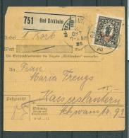 Paketkarte EF 133  Bad Dürkheim  Nach Kaiserslautern   Ansehen !! (Del-2092) - Deutschland